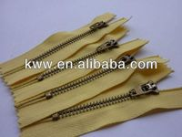 4.5YG C/E Y-teeh metal zippers for jean classic garment zippers