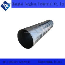 Stainless steel duct supplier welded spiral air duct pipe duct tube