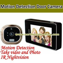 3.0 inch night vision digital door camera with motion detection, photo/video recroder, doorbell,, 4GB