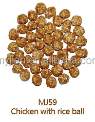 chicken with rice ball MJ59 premium natural dog treats O'dog myjian