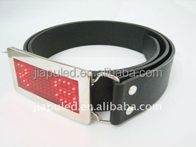 china supplier 2015 new FASHION Scrolling led light belt buckle