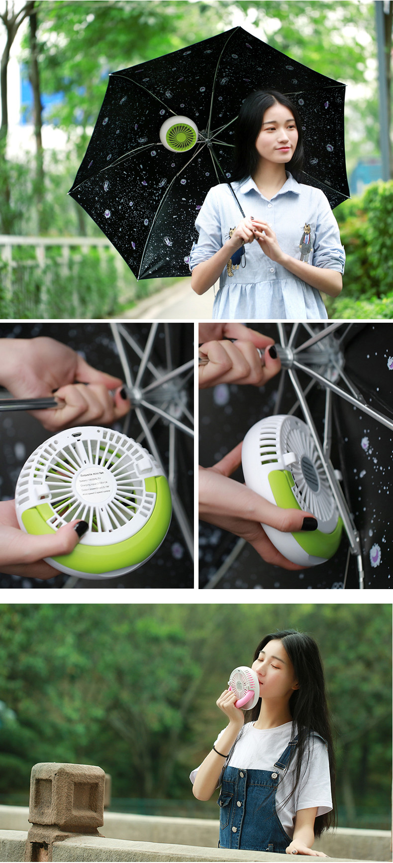 Advertisment Portable Hand Held Electrical Table Folding Mini USB Fan Rechargeable