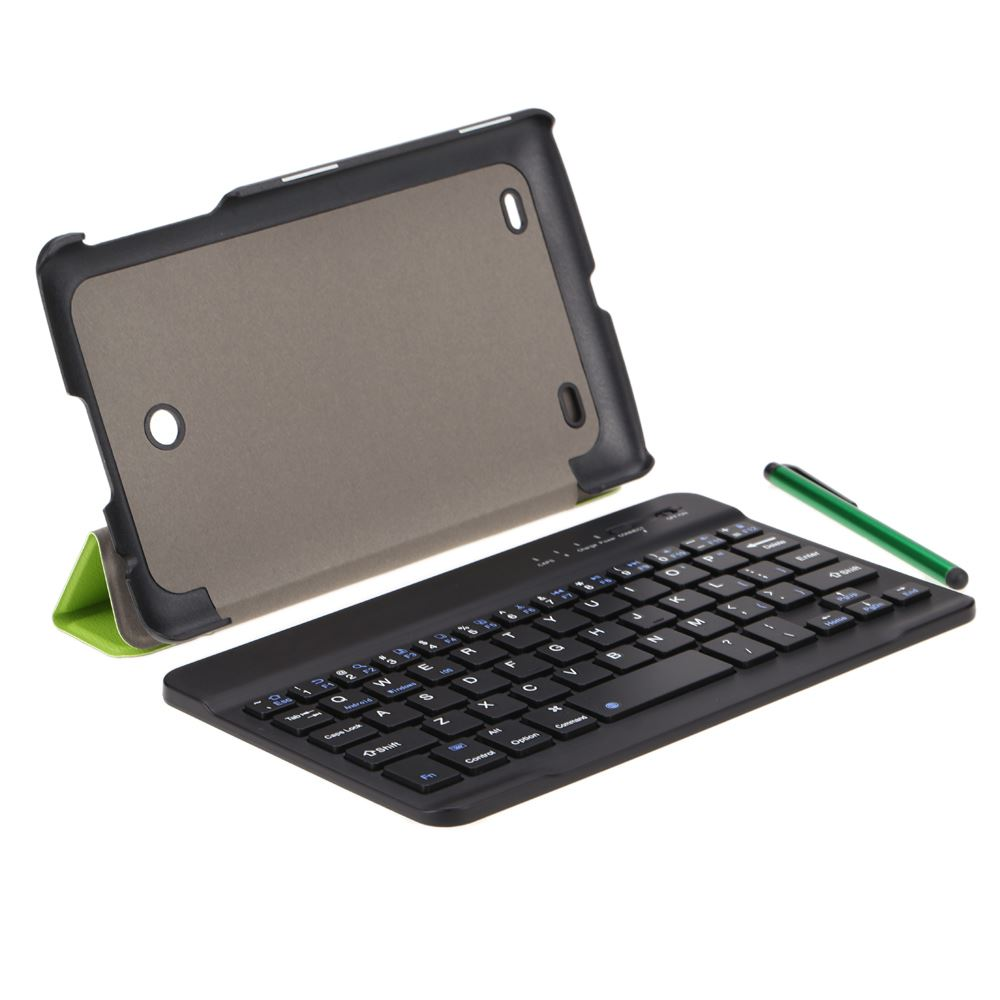 Ultrathin Wireless Bluetooth Keyboard with Foldable Magnetic PU Leather Case Cover Stand Holder and Stylus Pen for LG G Pad 7