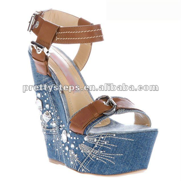 2012 PrettySteps wedge fashiom women sandals shoes ,high quality leather shoes for women/lady