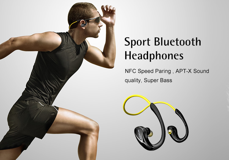 AWEI Sport MP3 Stereo In Ear Wireless Bluetooth earphones 4.1 for playing music