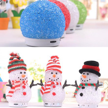 Best selling Santa Claus Christmas holiday promotion gift mini portable snowman wireless bt speaker for X-mas