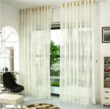 Vogue Flower Tulle Window Screens Decor Balcony Curtain Panel Sheer Scarfs Tulle Window Curtain