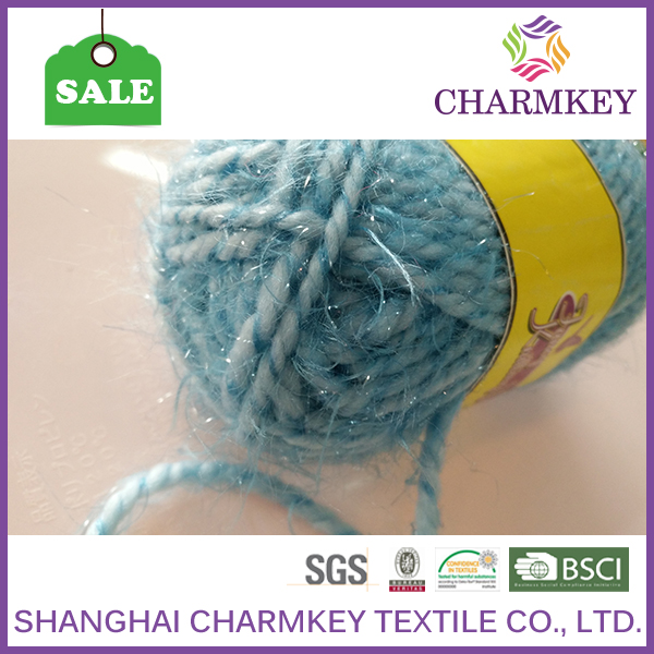 Colorful polyester yarn for scarf knitting selling well