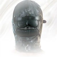sex head toys shop for male female sex leather hood sex toy head mask, large quantity supplies