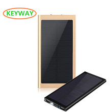2017 High quality Super Slim solar power bank 10000mah for iphone mobile phone