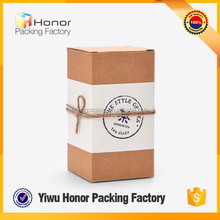 High end wholesale simple design thicken kraft paper tea box elegant tea packaging box