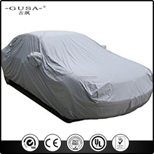 cheap waterproof oxford coated silver flood car cover