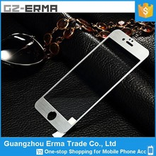 Hot Selling 2.5D Titanium Alloy Wire Drawing Color Tempered Glass Screen Protector For Iphone 5