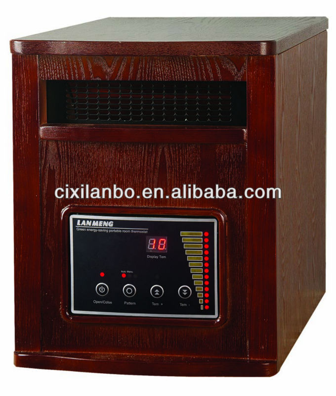 Portable Quartz Infrared electric room heater 5120btu