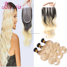 Virgin hair 1b613 virgin brazilian hair extension Virgin Hair and body Wave Style 2017 Promotions