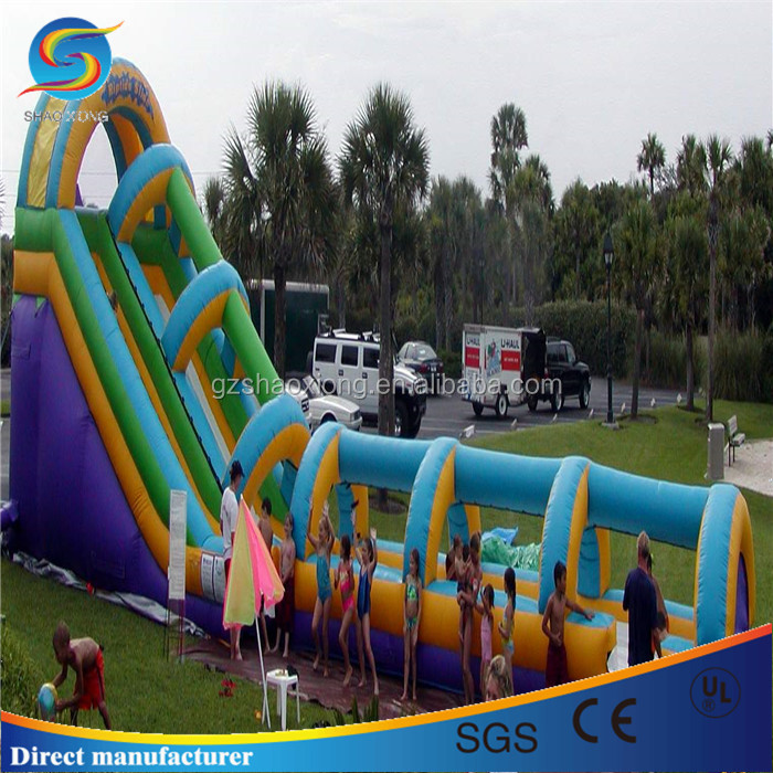 PVC inflatable slip and slide for sale