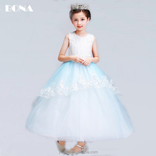 Tulle Sleeveless Lace Flower Girl Dresses With Bow Ball Gown First Communion Dress for Girls Little Girls Pageant Dresses
