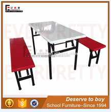 High quality dining folding table and chair, mess furniture