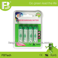 low self-discharge ni-mh 1.2V AA 2500mAh rechargeable battery at factory price