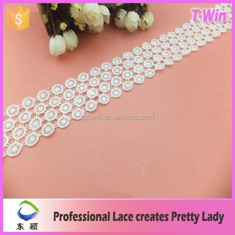 Chemical milk silk net circle trim lace embroidery fabric for fancy dress