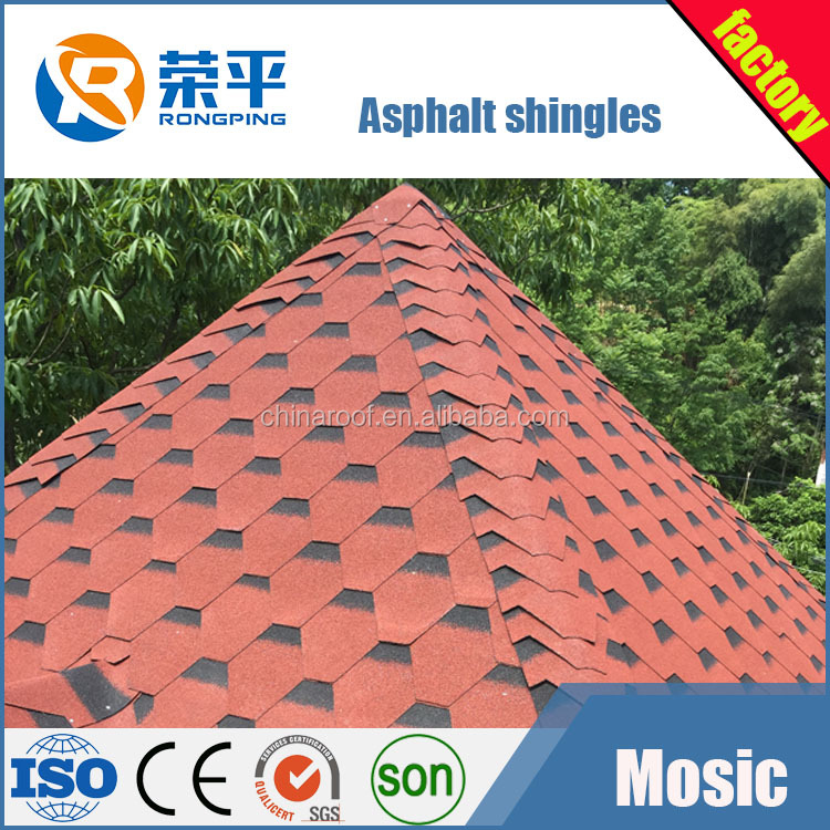 color Villa roof asphalt shingle/ Wooden House roof/swimming pool roof