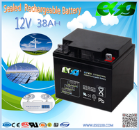 small 12volt battery , Lead acid battery for Electric Vehicles, 12V 38ah