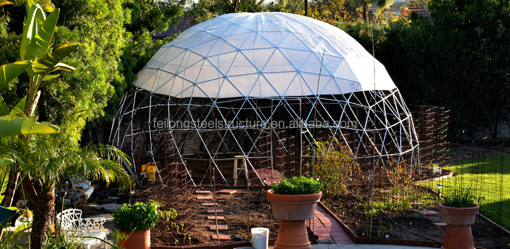 High quality steel structure geodesic domes