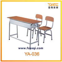 Hot sale cheap double school furniture/desk and chair YA-036