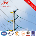power distribution utility galvanized steel poles for electrical distribution line