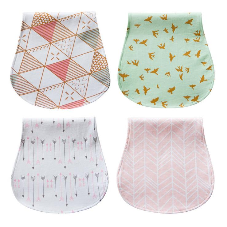 Printed cotton flannel burp cloth baby bibs