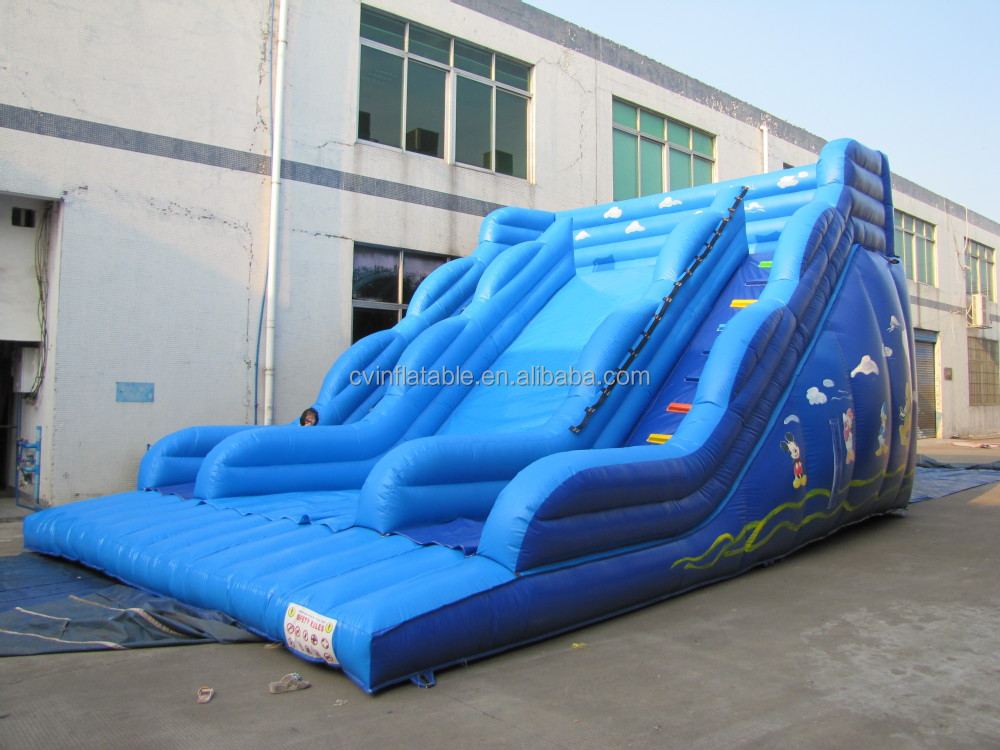Residential giant inflatable adult and kid slides, inflatable backyard slip n slide, inflatable water slide with cheap price