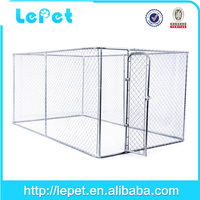 7.5'x13'x6' (2.3x4x1.8m) large galvanized chain link temporary mesh fence for dog