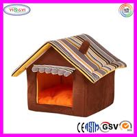 F228 Foldable Pet Dog Cat House Bed Soft Kennel Mat Pad Warm Puppy Cushion Basket Fabric Cat House