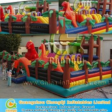 Cheap inflatable play center , inflatable park castle