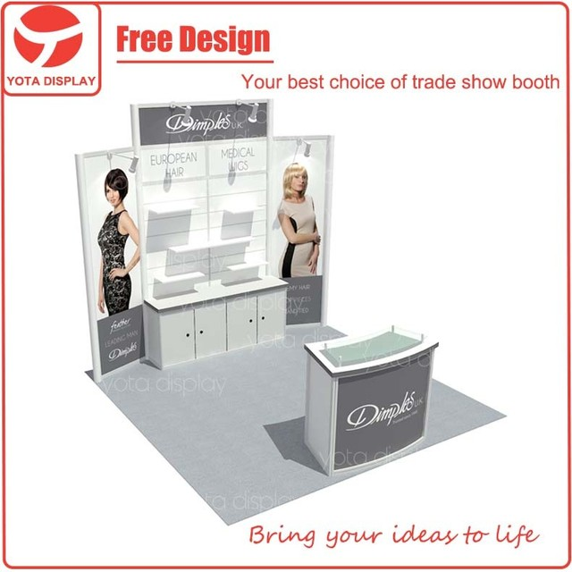 Yota offer Dimpks, 10x10 simple exhibition booth design photo