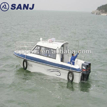Fiberglass Patrol boats manufacture for sale with best price cabin boats
