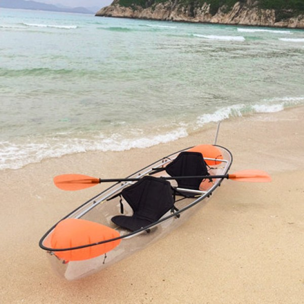 transparent canoe 2 person boat crystal clear kayak buy clear kayak
