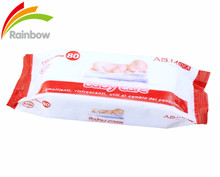 OEM acohol free organic nonwoven fabric soft cheap baby wet wipes