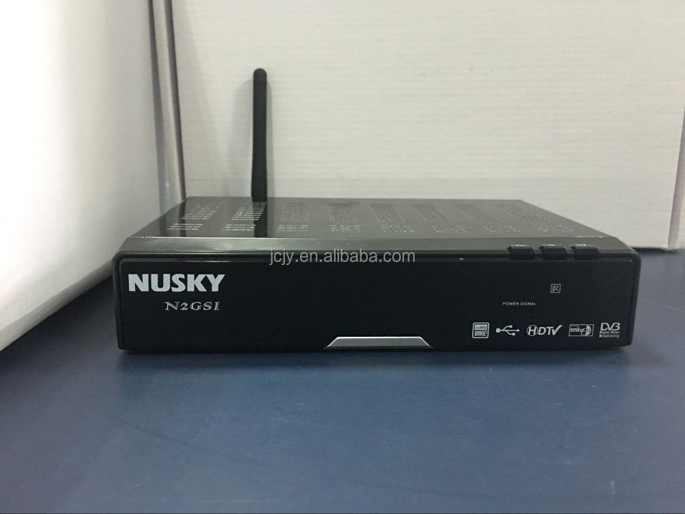 Stocks for 2016 new product NUSKY N2GST support DVBS2, DVBT2/ISDBT, GPRS, VFD, for South America market with IKS SKS twin tuner