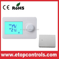 RF floor heating wireless thermostat for volt free heating
