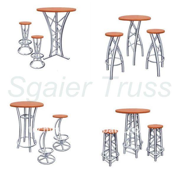 armadura de aluminio muebles de mesa del club silla de la barra ...