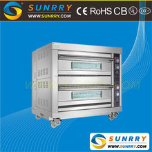 China Supplier stainless steel 2 deck 4 trays used industrial bakery gas portable bread oven for sale