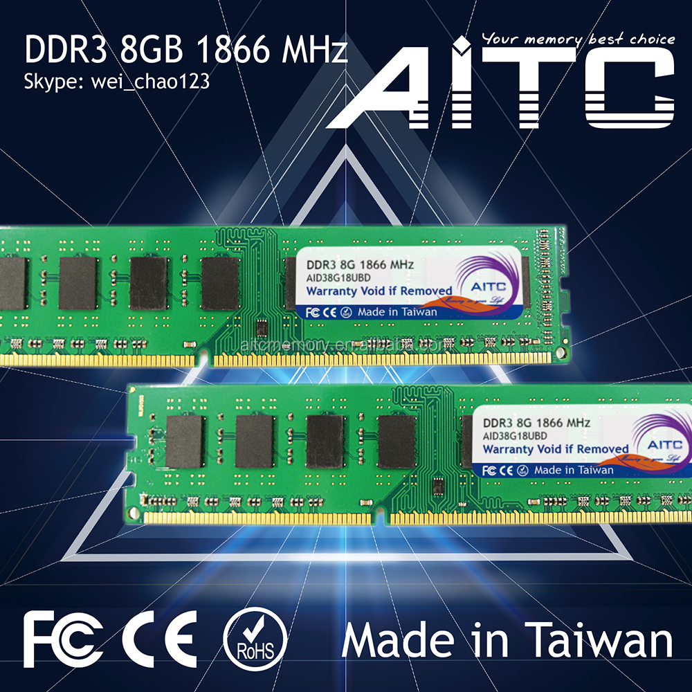High performance AITC 1866MHz 8gb U dimm desktop gaming ddr3 Memory ram gaming of ram