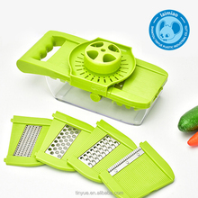Tinyue 5 in 1 Fruit Vegetable Slicer Grater Multi-Function Kitchen Grater with Hand Guard