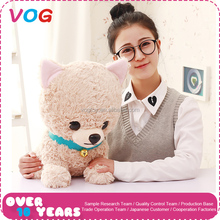 TOP sale plush birthday gift makers cute dog puppy plush toys with ring decoration