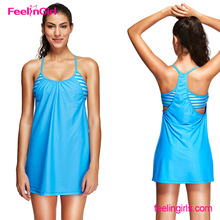 Beautiful Girl Sex 2 Pcs Halter Tankini Swimwear Bathing Suit