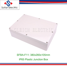 380x260x105mm IP66 Weatherproof Electrical Plastic Enclosure Box
