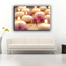 Romantic high quality candles home goods wall LED canvas art painting