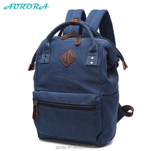 Guangzhou Vintage Canvas Satchel bag School kids book bag