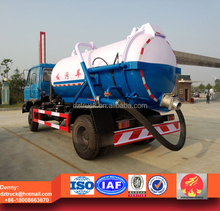 Dongfeng 8000liters vacuum sewage suction truck